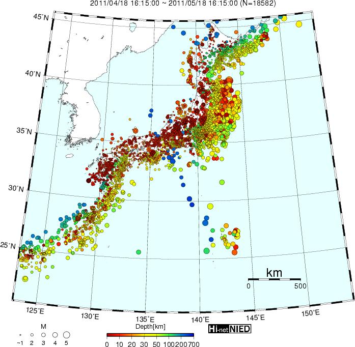 高感度地震観測網Hi-net:くすの...